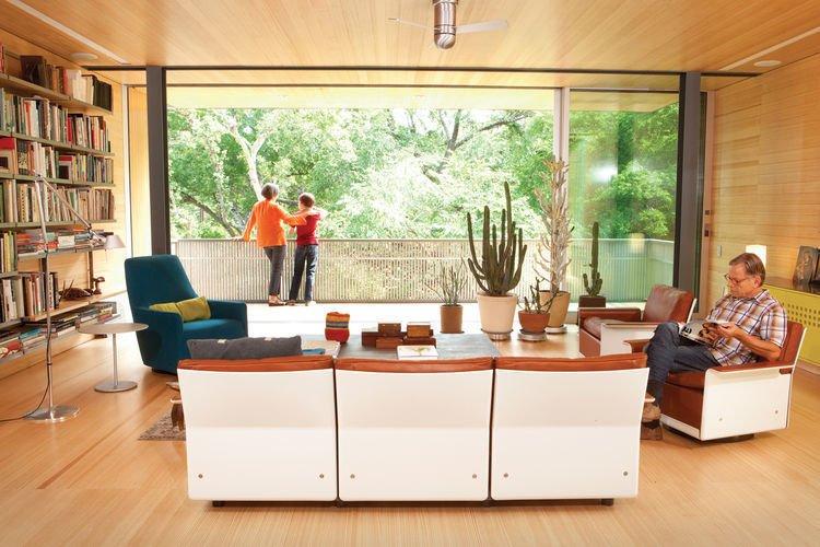 Balcones House Interior Living Room  Balcones House
