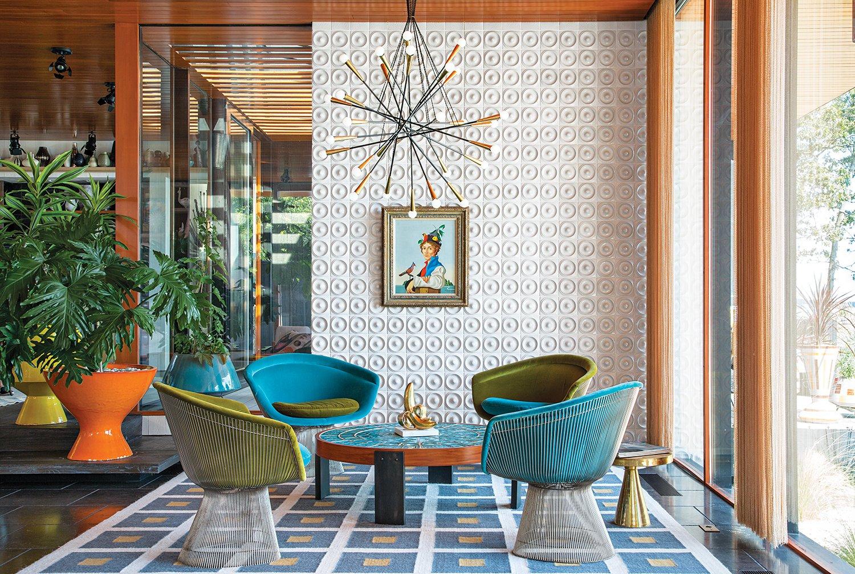 #midcenturymodern #interior #inside #tile #chair #WarrenPlatner #JonathanAdler #SimonDoonan #ShelterIsland  Marvin's Favorites from midcenturymodern