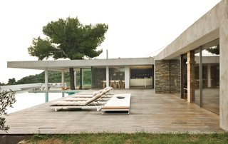#beachhouses #exterior #outside #lounge #pool #stone #island #Aegean #Skiathos #Greece