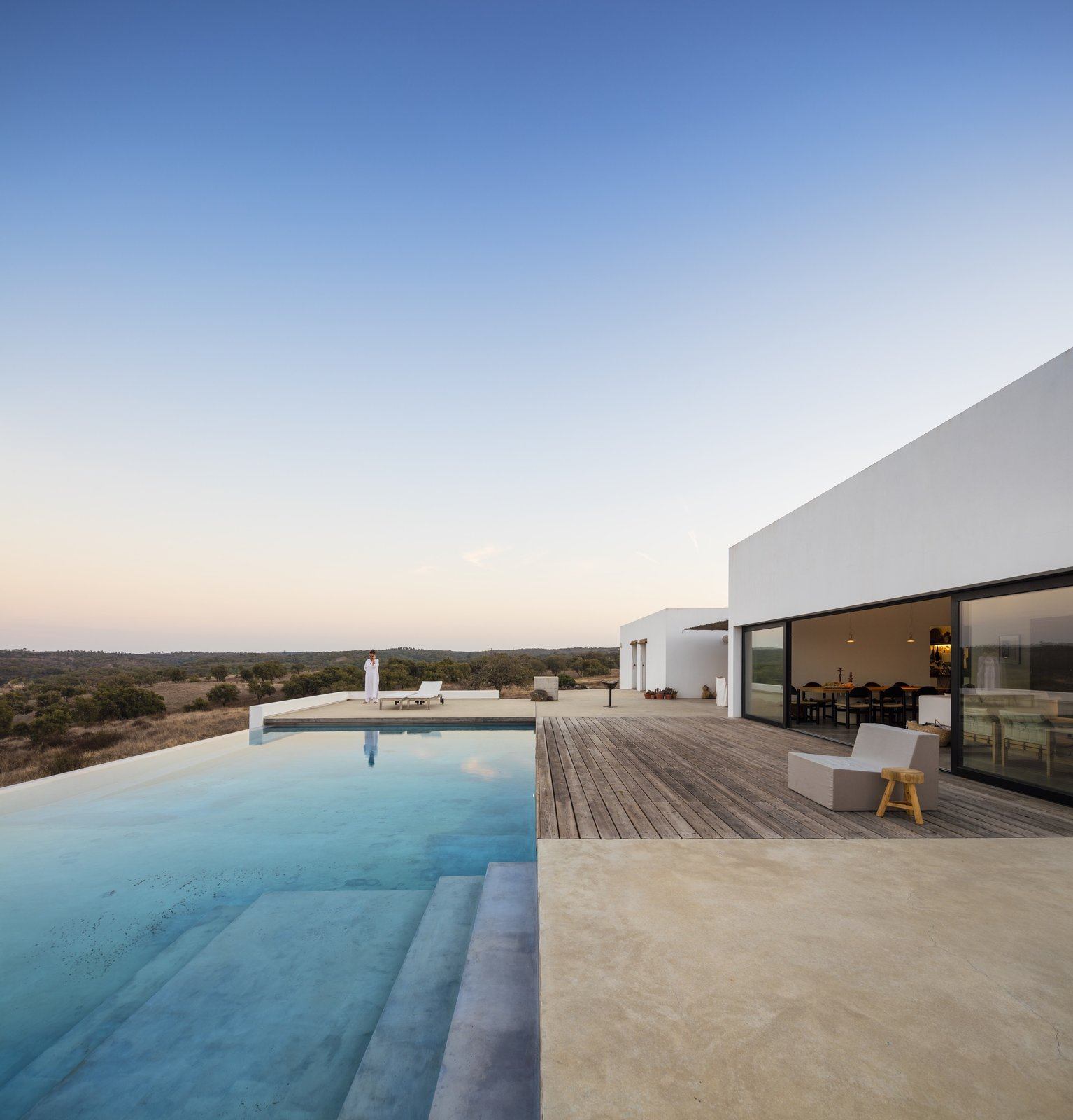 #pooldesign #exterior #outdoor #outside #landscape #diningroom #ColectivArquitectura #Grandola #Portugal   Photo 12 of 12 in Take a Plunge Into These Enticing Modern Pools from Pools