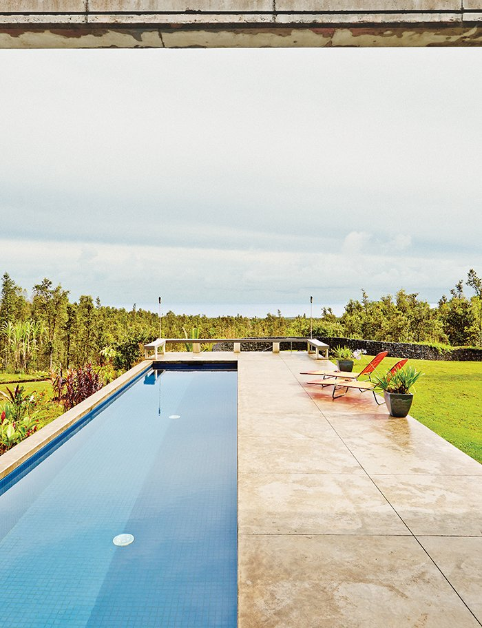 #pooldesign #pool #exterior #outdoor #outside #modern #minimal #landscape #loungechair #perpendicular #concrete #Hawaii #LavaFlow7 #CraigSteelyArchitecture   Pools