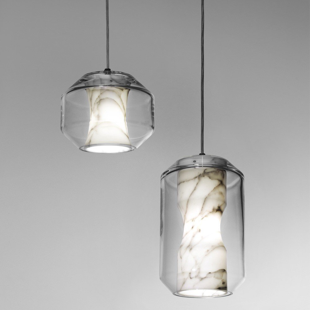 #lighting #indoor #interior #inside #marble #crystal #Chamber #lights #pendant #LeeBroom  60+ Modern Lighting Solutions by Dwell from Kitchen Lighting