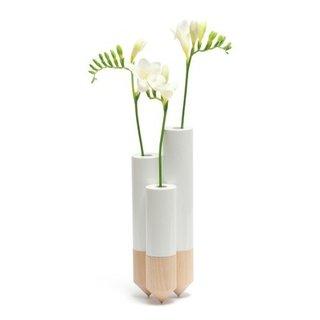 PIK Vases - White  Designed by Anders Nørgaard   Y'a Pas Le Feu Au Lac