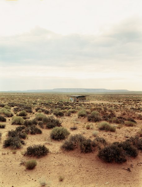 Architect Hank Louis worked with Navajo tribe elders to secure a 66-year lease on a half-acre lot in the middle of Bluf, Utah, for Rosie Joe and her children.