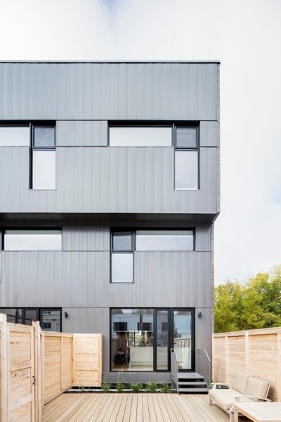 Privacy can often be an issue when living in such close proximity with your neighbors. Each of the units include their own private entrance and there are no shared walkways. Whether the unit has a deck or patio, all the units are separated by a wood wall to ensure privacy.