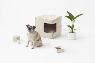 Japanese design studio Nendo has released a new line of products for the design-savvy pet owner. Designed for the modern interior, the collection includes a dog house and several toys with angles instead of rounded, soft shapes.