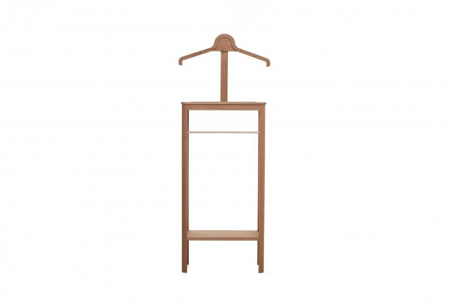"""Gentleman's Valet by Soren Rose Studio, $1,795 from mattermatters.comIn a previous issue of Dwell, we called the Hans Wegner Valet chair from 1953 """"the manliest chair of the 20th century."""" If you can't scour vintage shops to find one, Soren Rose makes a modern interpretation. It offers compartments to store keys, change, wallets, watches, and all the other items that men need to go about their daily lives. Best of all, the rack offers places to leave shoes and hang coats, pants, and ties.  Holiday Gift Guide: For the Gents by Diana Budds"""