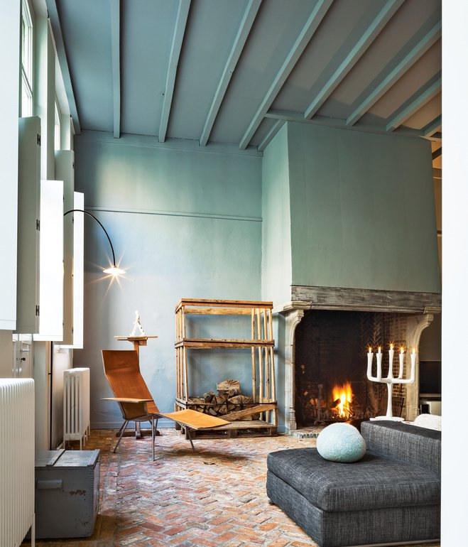 Both a gallery and a residence, an Antwerp home redefines the boundaries between public and private, art and interior design.  Tips for Creating a Comfortable Living Room by Drew McGukin from Reasons to Love Herringbone