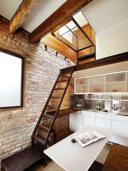 A Compact Three-Story Brick Loft in San Francisco