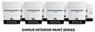 ROMA's Domus Mineral Paints are made from natural materials and are free of toxic chemicals and asthmagens.