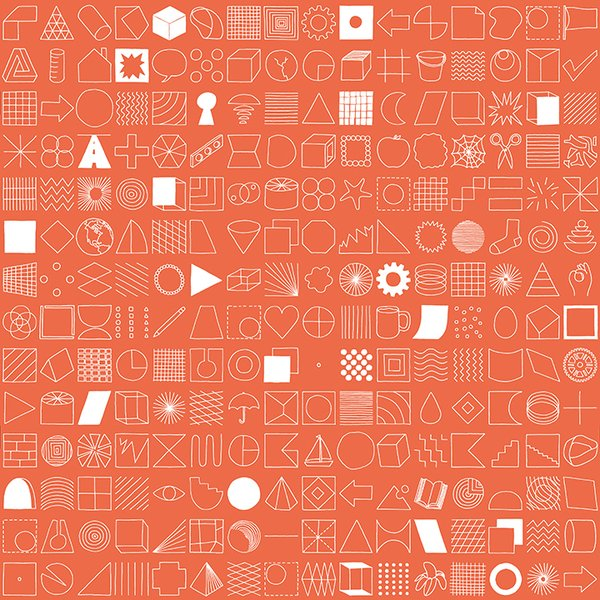 100 Things Wallpaper by Makelike. Screen printed in Portland by a multi-disciplinary collective that specializes in graphic and pattern design and art direction.