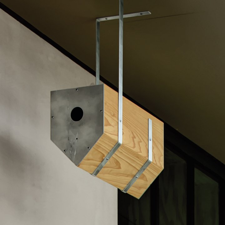 Jason David Smith, a young architect working for Levy at the time, made birdhouses for local screech owls and purple martins.  Photo 5 of 9 in A Light-Filled, Nature-Inspired House in Dallas