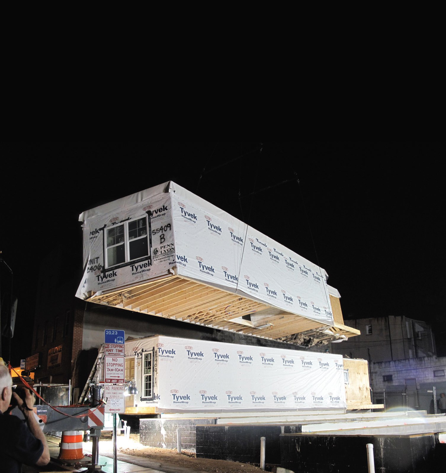 Architect Edward Paul Haladay, a volunteer for Habitat for Humanity of the Chesapeake, aimed to use prefab architecture in order to create an affordable housing solution for the large amount of population living below poverty in Baltimore, Maryland.  Photo 1 of 2 in Prefab for Humanity