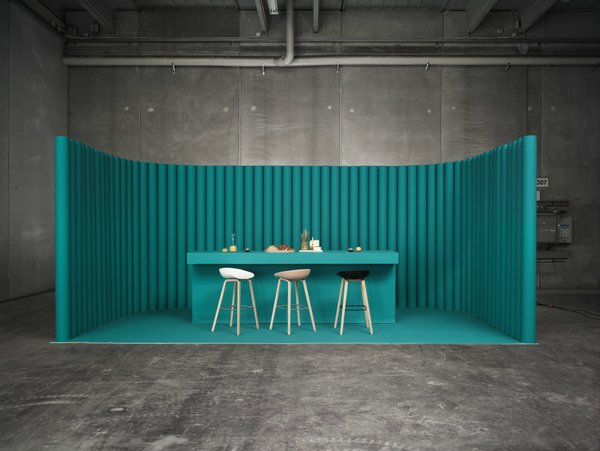Designer Hee Welling collaborated with HAY in order to produce this conspicuous collection of barstools titled A Chair.