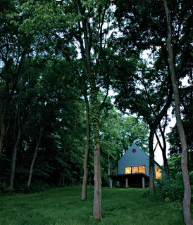 Lauren Ewing's stylish but unassuming shotgun-style house in Vincennes, Indiana, is set into a hill overlooking a field she has known since childhood.