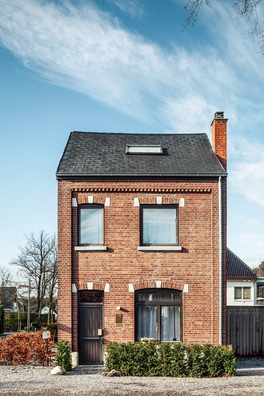 """We like to live close to work because we're constantly tinkering and adjusting, which is fine for us,"" he says.  Photo 4 of 8 in A Clever Belgian Couple Renovate Their Aging Brick Home"