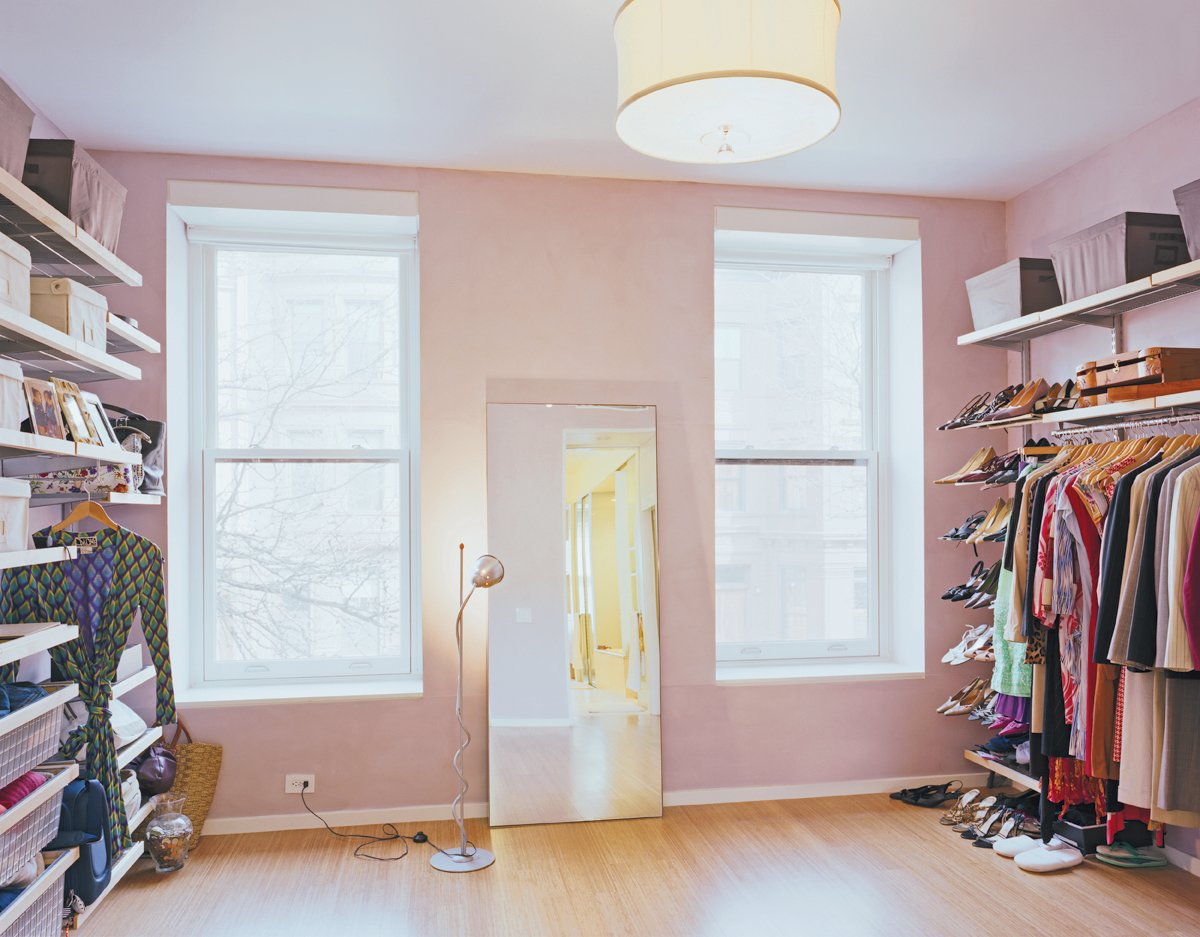 Martin's closet (which some would consider to be a perfectly habitable room—or apartment!) offers room for a growing wardrobe.  Photo 4 of 7 in Modern Rowhouse Renovation in New York