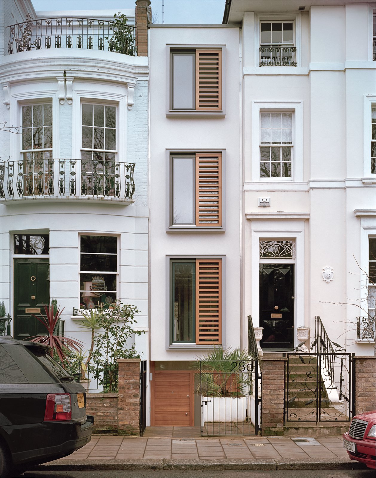 On an eight-foot-wide site in London, architect Luke Tozer cleverly squeezed in   a four-story home equipped with rain-water-harvesting and geothermal systems.  Incredibly Slender Houses by Luke Hopping from A Slender Geothermal Cottage in London