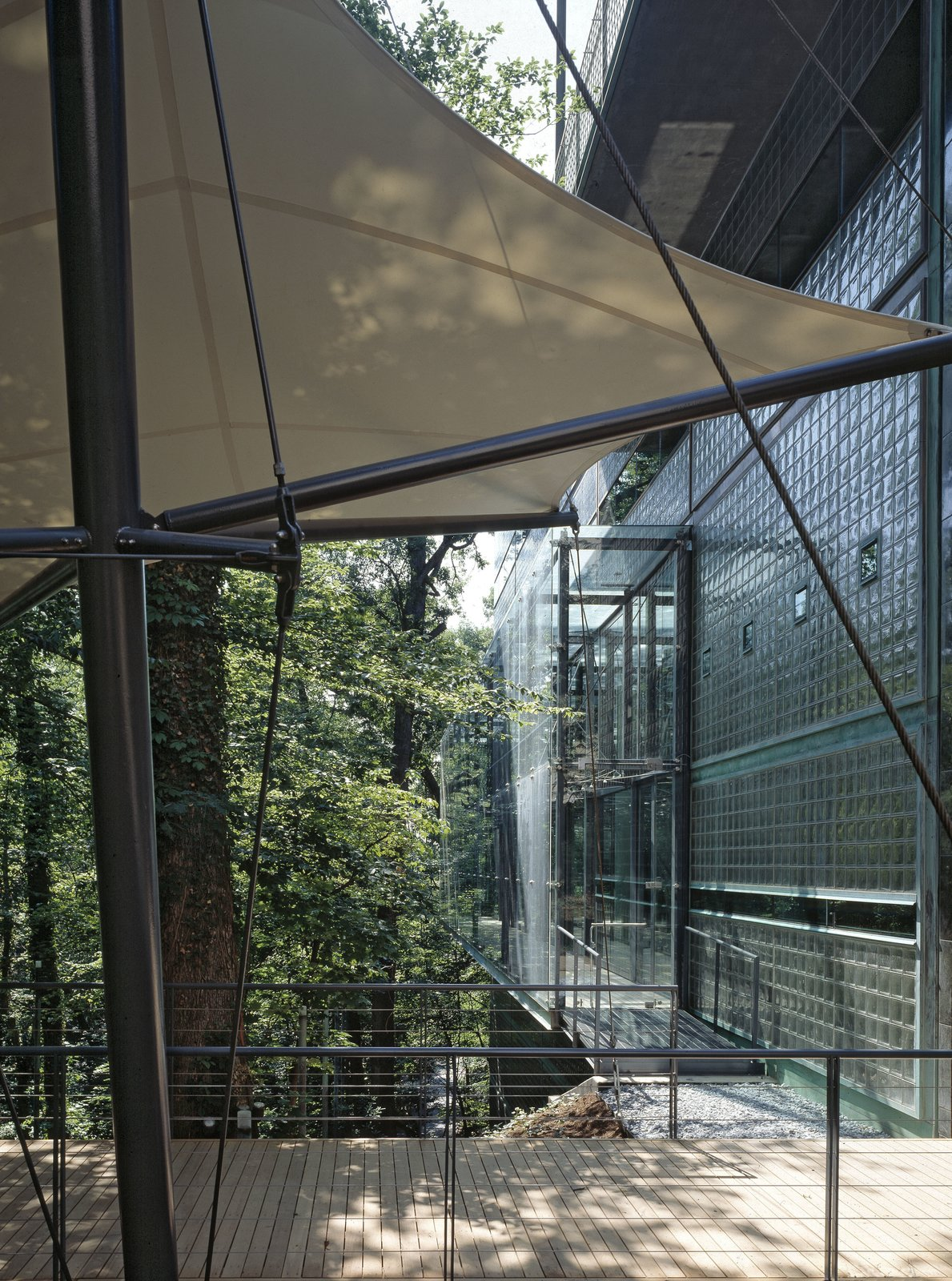 The copper-and-glass exterior is a nod to Finland's modernist heritage.  Photo 5 of 6 in Finnish Embassy in Washington Receives Platinum LEED Certification