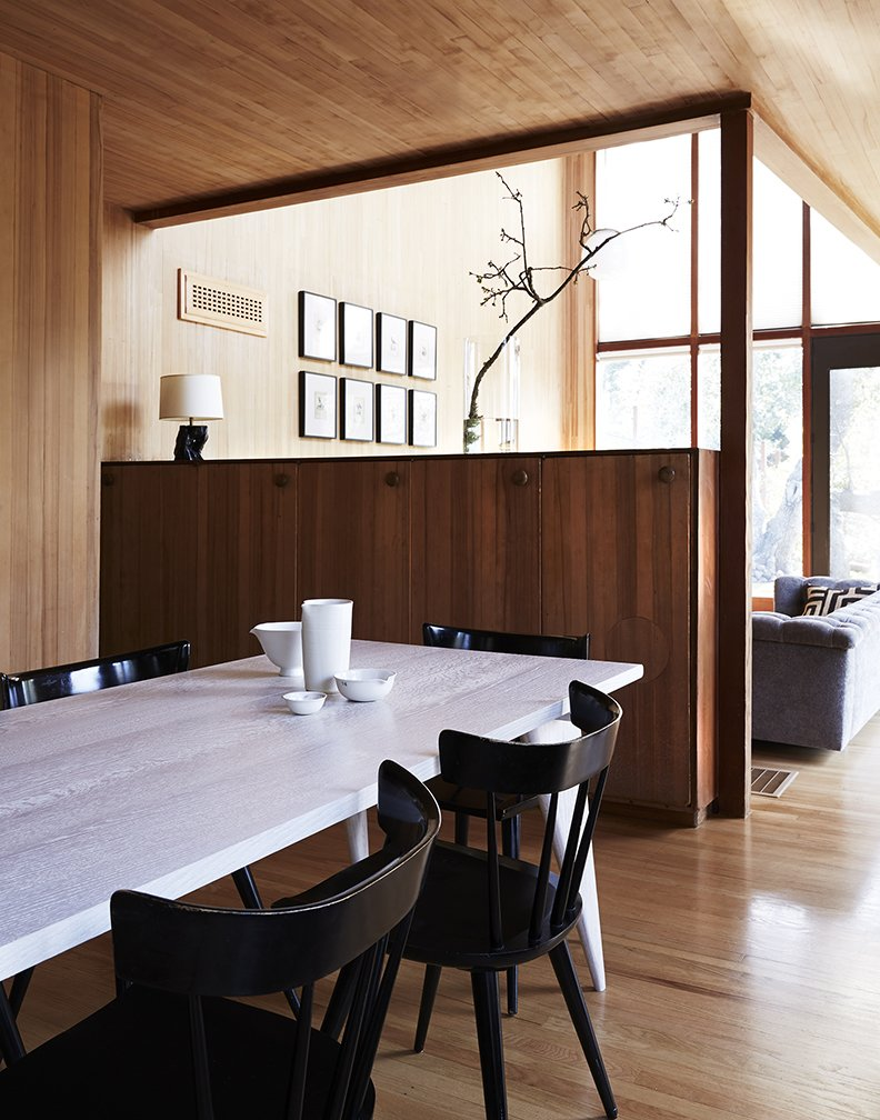 Dining Room, Table, and Chair Original built-in cabinetry is retained throughout the house. Planner Group side chairs by Paul McCobb surround the dining table.  Best Photos from Looking Good for Over 70 Years: This Cozy Joseph Esherick Home is Amazingly Well-Preserved