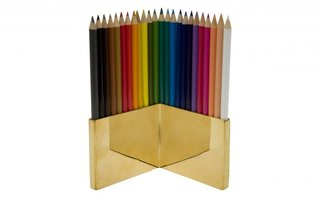 This polished brass pencil holder (which comes complete with 24 colored pencils) is a very efficient way to add some minimalist glam to someone's workspace. $75 at Jayson Home.