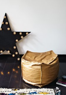 The copper-colored leather pouffe is one of 48 DIY projects featured in Fehrentz's book, Made by Yourself. The English edition will be published in 2014.