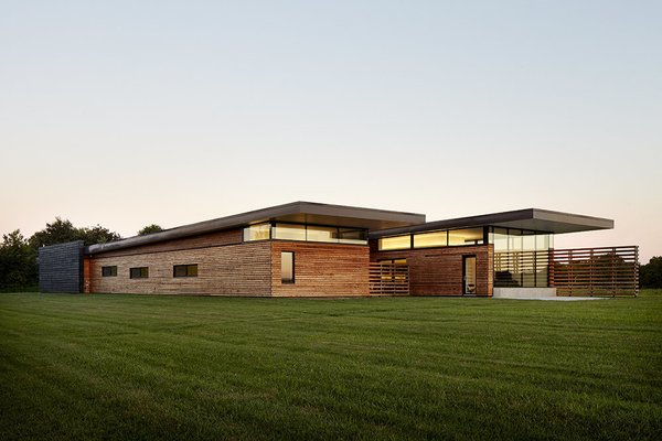 El Dorado Inc designed this 4,500-square-foot house for Dave Byers and his family. Byers is a structural engineer who has collaborated with the firm on multiple projects. The residence is located in the prairie southeast of Kansas City.