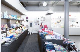 The store features designers such as Ronan & Erwan Bouroullec, Margaux Keller, Constance Guisset, Ionna Vautrin, Pauline Deltour, Sam Baron, Vitra, Petite Friture, and Lexon.