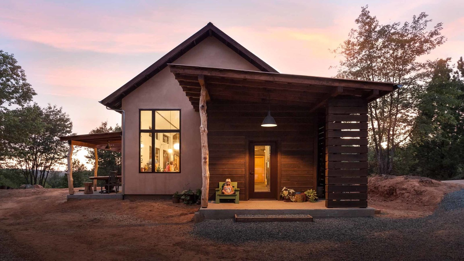 Exterior, House Building Type, and Cabin Building Type A Seattle family tasked Atmosphere Design Build with creating a sustainable dwelling in Nevada City, California, the matriarch's hometown and a historic mining community. The firm's material-driven approach channels the pioneer spirit of the gold rush, without compromising comfort or high-efficiency standards.  California Homes from Don't Let Its Rustic Charm Fool You, This Net-Zero Home Plays for Team Modern