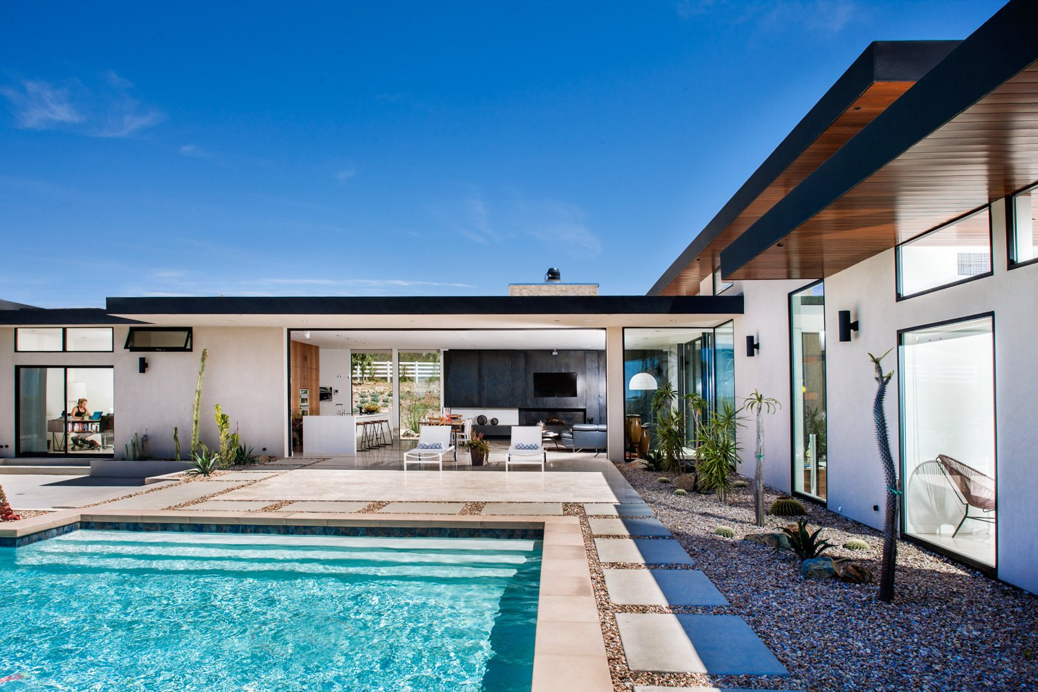 The house is LEED Gold certified and filled to the brim with green elements that are both passive and prescriptive. Nakhshab sourced local materials and held the project to high-efficiency standards.  Photo 7 of 12 in It's Time to Kick Off Dwell Home Tours—First Stop, San Diego