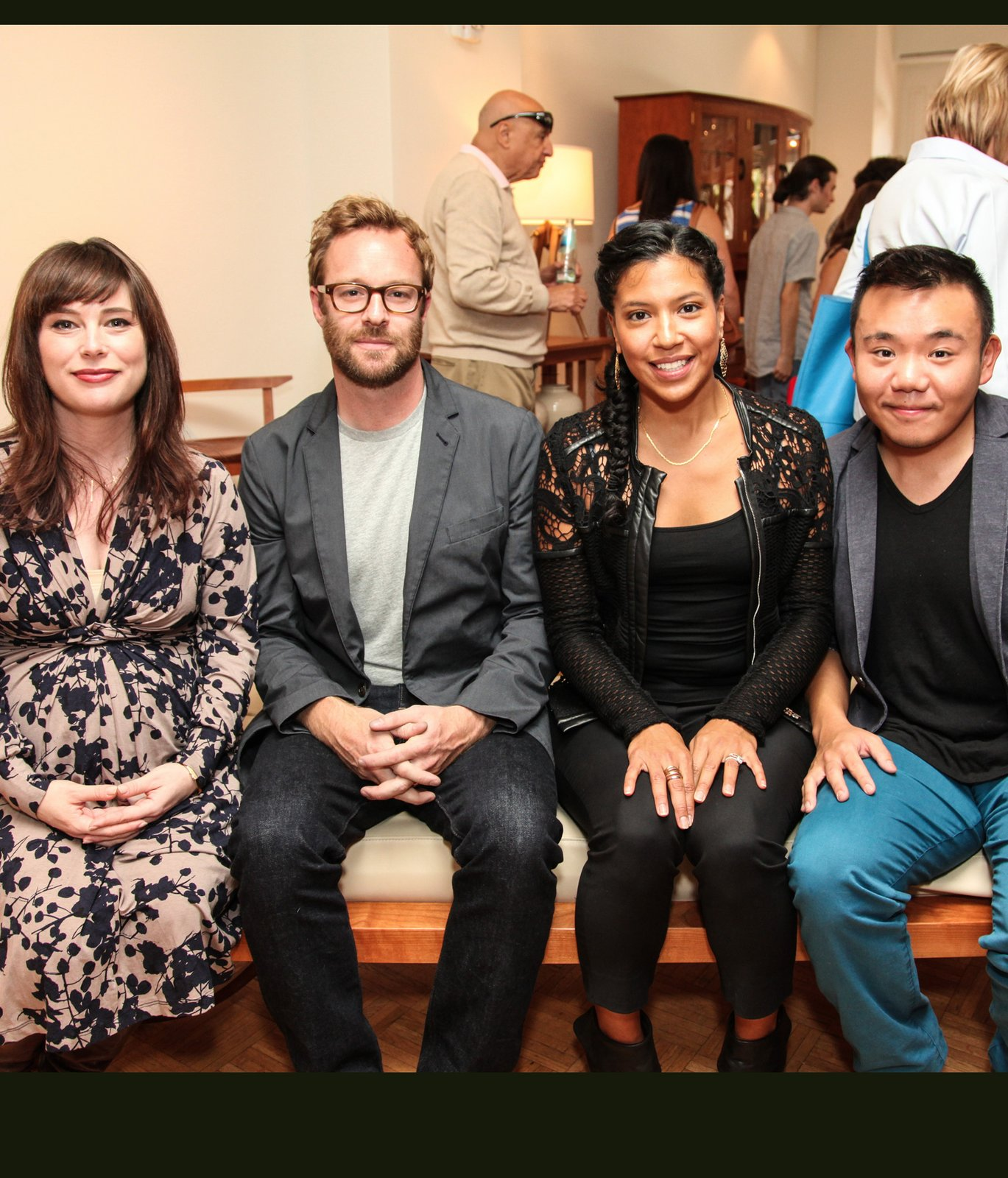 Dwell Editor-in-Chief Amanda Dameron, Thos. Moser Furniture Designer Adam Rogers and young designers, Fahmida Lam and Willy Chan pose with their pieces of furniture as part of the emerging designer program sponsored by Thomas Moser. Photo Courtesy Stephen Lovekin and Don Bowers.  Photo 3 of 13 in Dwell Celebrates Another Successful City Modern