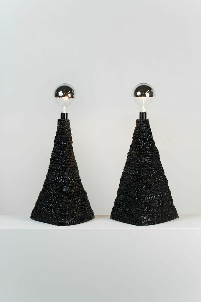 Stout worked with Sean Gerstley on a series of pinched clay lamps.  Photo 3 of 7 in Keep Your Eye On: Brooklyn Designer Katie Stout