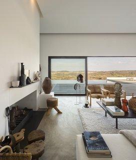 The house maximizes vistas of the region's natural terrain.