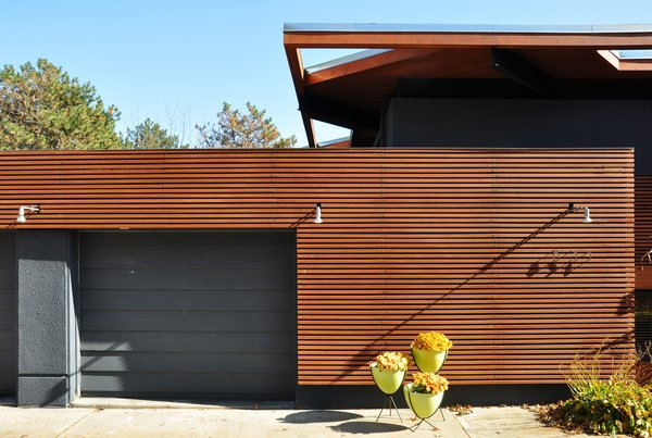Marvelous Modern Home With Exterior, House Building Type, And Wood Siding Material.  Designed In