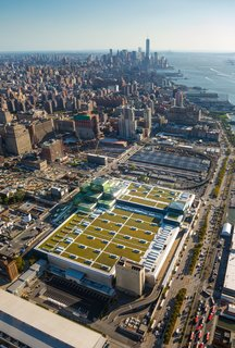 The green roof on Javits Center, designed by FXFOWLE, is the second largest green roof in the country.