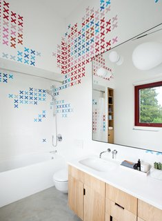 Lovely Bath Room And Ceramic Tile Wall Husband And Wife Ceramic Artists, Dear Human