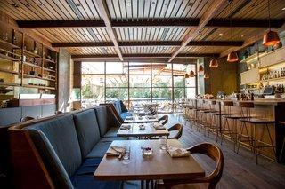 Hinoki and the Bird, another restaurant winner, designed by Studio MAI.