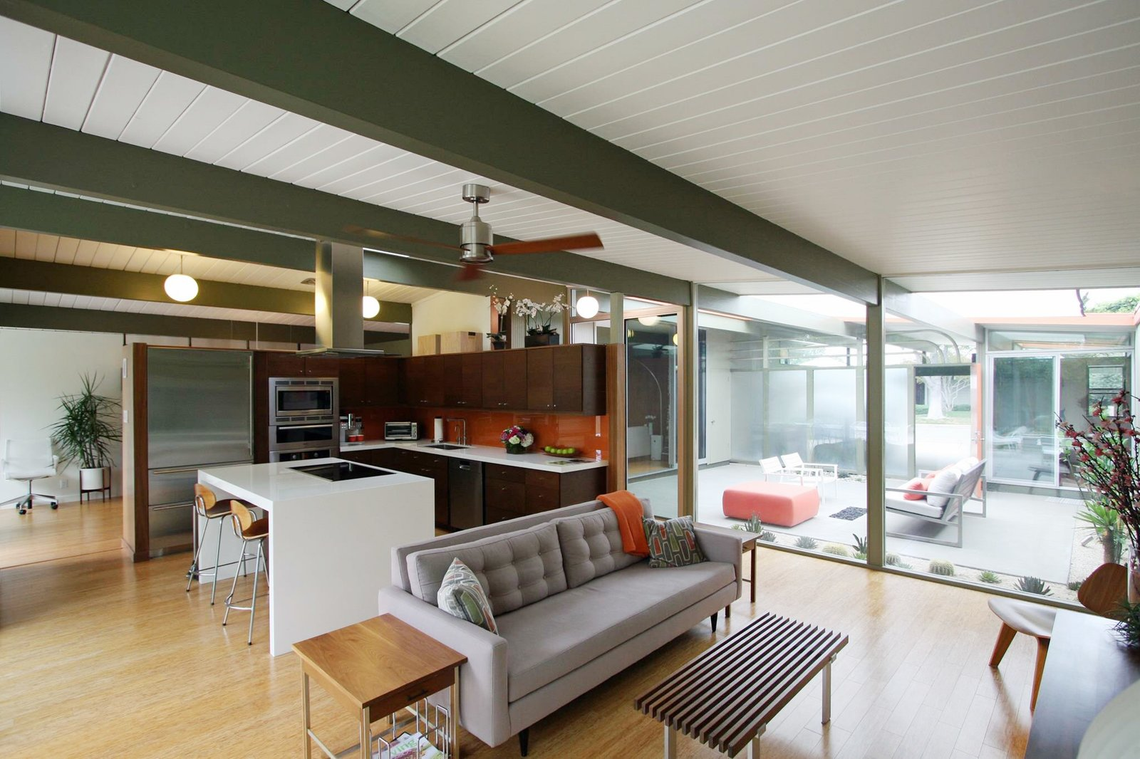 Wade and Hanh Bannister spent over five years renovating their 1961 Joseph Eichler house to add modern amenities while retaining the structure's midcentury spirit.  Modern Eichler Renovations by Allie Weiss from Our Issue Filled with Your Houses Is On Its Way!