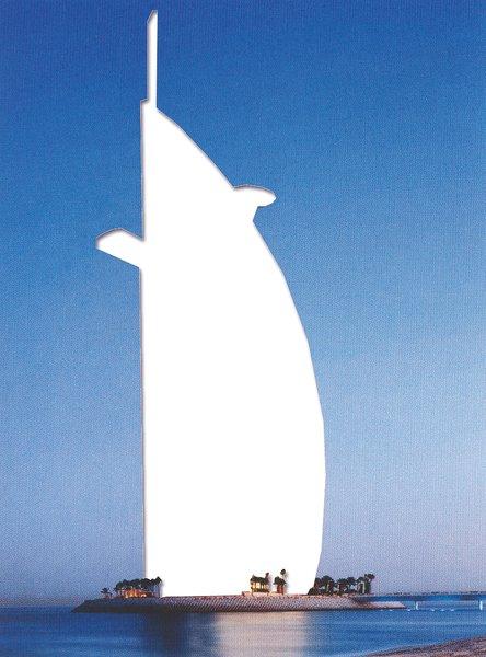 Burj al Arab, Tom Wills Wright, 1999.