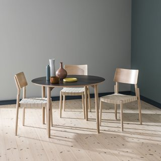 The tables come with round or square legs in a choice of four colors.