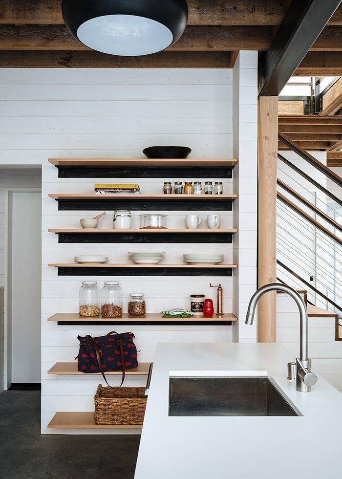 modern kitchen designs island shelving