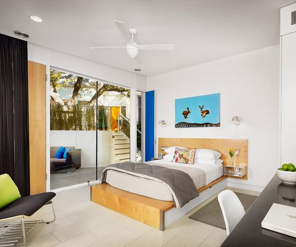 Kimber Modern, Austin   Located in Austin's buzzing South Congress neighborhood, the Kimber Modern combines sleek modernism with pops of color. Architect Burton Baldridge found a perfect balance between durability and delight.