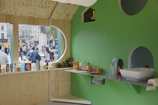 The interior is meant to show how creative layouts can make the most of cramped urban spaces.