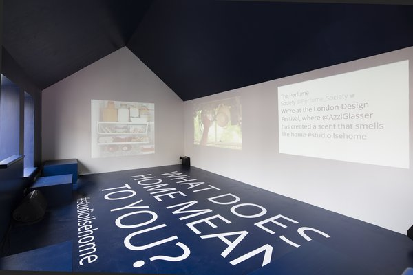 """Crawford's design incorporates various audio-visual elements. """"We had two projections on loop,"""" she says. """"One is a film of all the daily actions and rituals that take place in any home throughout the course of a day. The second is a stop motion slideshow of all the objects and 'things' we touch and interact with in the course of a day. These run to a soundtrack that captures the sound of home, and are offset by a fragrance we have developed with London-based fragrance expert Azzi Glasser. We wanted to capture the smell of an old sofa, aging wooden floorboards, and extension cables."""""""
