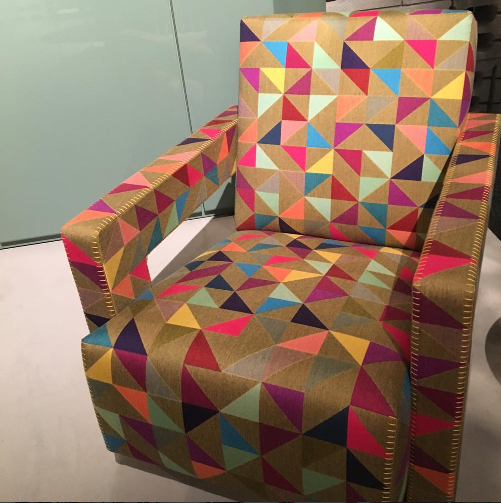 Gerrit Rietveld's 1935 Utrecht chair, covered in Boxblocks by Bertjan Pot for Cassina.  Editors' Picks from Salone del Mobile 2016: Day Two by Dwell