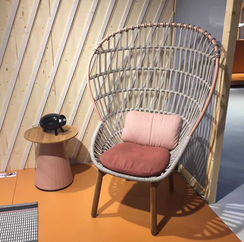 A regal back of knitted rope makes up Kettal's new Cala armchair by Doshi Levien.