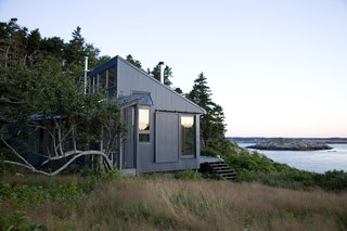 On an island 20 miles off the coast of Maine, a writer, with the help of his daughter, built not only a room, but an entire green getaway of his own.