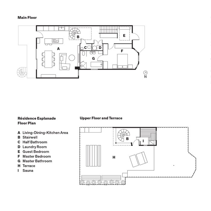 Résidence Esplanade Floor Plan  Scandinavian from Scandinavian Style Revives This Montreal Home