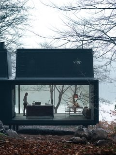 Vipp, the Danish industrial design company known for its iconic trash cans and all-black kitchens, introduced a 592-square-foot prefab guesthouse in 2015 called Shelter. Situated on the shore of Lake Immeln in Sweden, the Vipp shelter sleeps two adults and runs €1,000 per night, while the loft sleeps up to four adults for €1,500 per night.