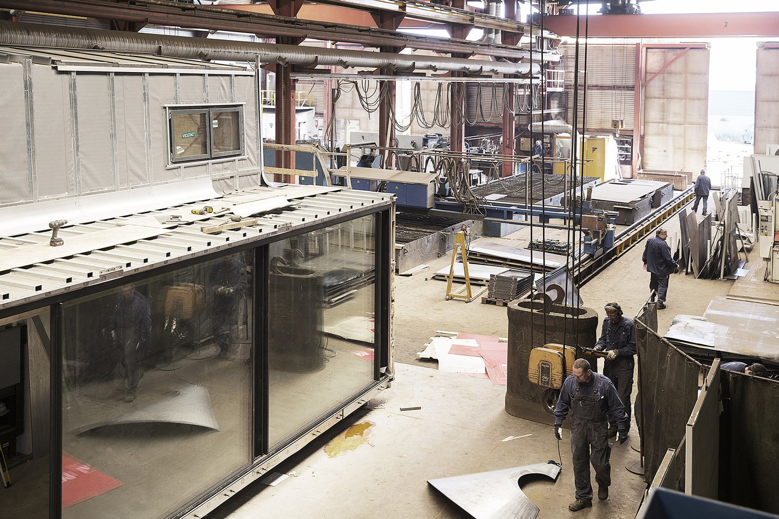 Vipp's prefab Shelter units are made in factory in Denmark with a six-month lead time.  Prefab Gets a Makeover With Danish Industrial Design  by Kelsey Keith